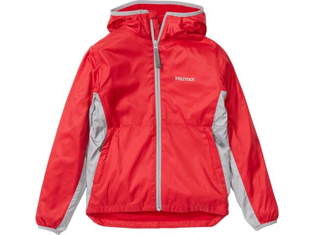 Marmot Trail Wind Hoody Boys team red/sleet